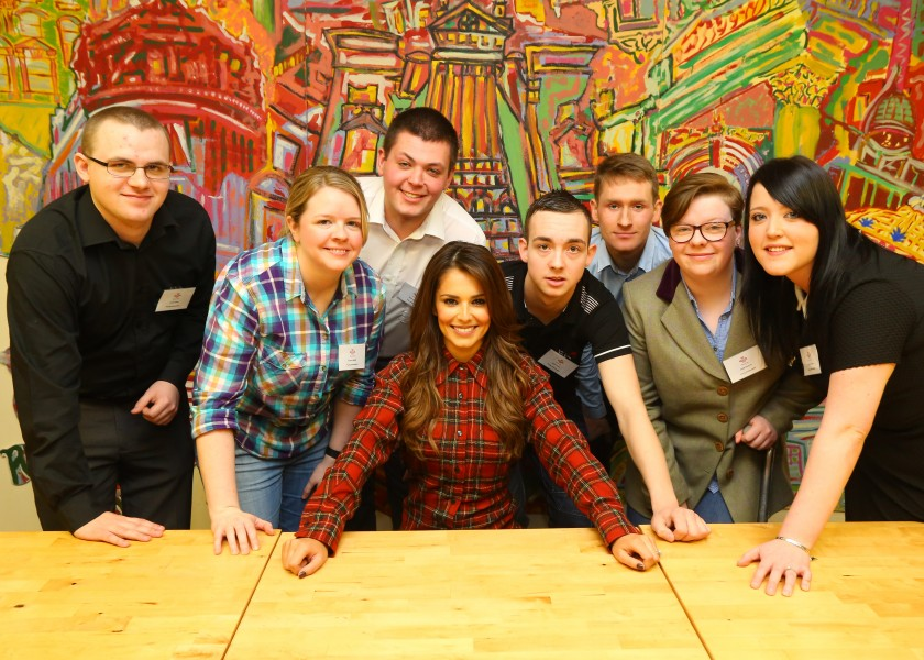 Cheryl Fernandez-Versini meets with young people from the Prince's Trust
